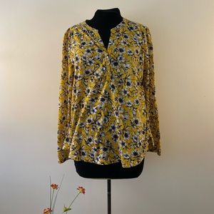 Daisy floral blouse H&M long sleeve top yellow